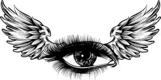 Wektorowi ilustracyjni Piękni kobiet oczy z uzupełniali royalty ilustracja
