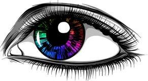 Wektorowi ilustracyjni Piękni kobiet oczy z uzupełniali ilustracji