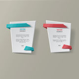 Wektorowi infographic origami sztandary ustawiający Obrazy Stock