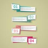Wektorowi infographic origami sztandary ustawiający Obrazy Royalty Free