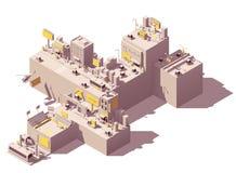 Wektorowi isometric plenerowej reklamy przykłady ilustracja wektor