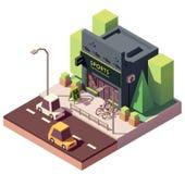 Wektorowi isometric sporty i sprawność fizyczna sklep ilustracji