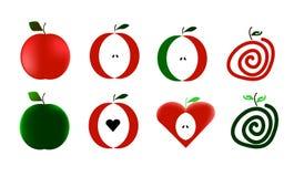Wektorowi jabłka Fotografia Royalty Free