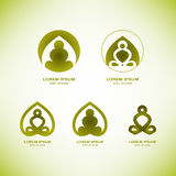 Wektorowi joga loga elementy Obraz Royalty Free