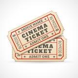 Wektorowi Kinowi bilety ilustracja wektor