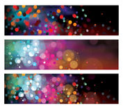 Wektorowi kolorowi sztandary Obraz Royalty Free