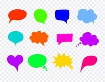 Wektorowi Komiczni Kolorowi projektów elementy, rozmowa bąble Ustawiający ilustracja wektor