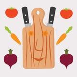 Wektorowi kuchni narzędzia ustawiający Nowożytni płascy projektów pojęcia, drukowany m ilustracja wektor