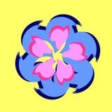 Wektorowi kwiatów płatki różni kształty w circ Zdjęcie Stock