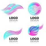 Wektorowi loga projekta elementy ustawiający obraz royalty free