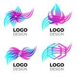 Wektorowi loga projekta elementy ustawiający zdjęcia royalty free