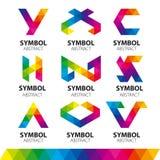 Wektorowi logowie od abstrakcjonistycznych modułów Zdjęcia Stock