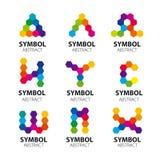 Wektorowi logowie od abstrakcjonistycznych modułów Obraz Royalty Free