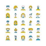 Wektorowi ludzie avatar Fotografia Stock