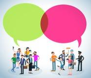 wektorowi ludzie komunikować ilustracji