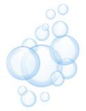 Wektorowi mydlani bąble ilustracji