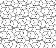 Wektorowi nowożytni bezszwowi geometria wzoru sześciany, czarny i biały abstrakt ilustracja wektor