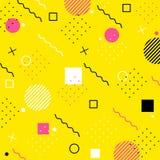Wektorowi nowożytni menchii, koloru żółtego i czerni kształty, Obrazy Stock