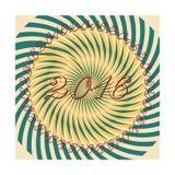 Wektorowi nowy rok rocznika retro kartka z pozdrowieniami Zdjęcia Royalty Free
