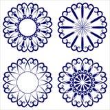 Wektorowi ornamentacyjni kwiaty Obraz Royalty Free