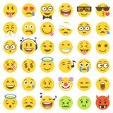 Wektorowi płascy emoticons ustawiają 2 Zdjęcia Stock