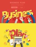 Wektorowi płascy projektów pojęcia dla planu biznesowego Obrazy Stock