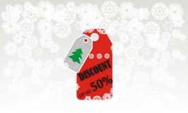 Wektorowi płatki śniegu dla kartki bożonarodzeniowa Obraz Stock