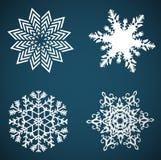 Wektorowi płatki śniegu ustawiający dla boże narodzenie projekta Obrazy Stock