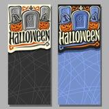 Wektorowi pionowo sztandary dla Halloween Obrazy Royalty Free