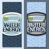 Wektorowi pionowo sztandary dla Wodnej energii Ilustracja Wektor