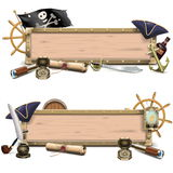 Wektorowi piratów billboardy royalty ilustracja