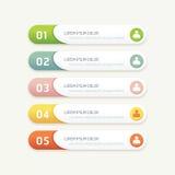 Wektorowi postępów sztandary z kolorowymi etykietkami Obraz Stock