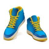 Wektorowi realistyczni i szczegółowi sneakers Ilustracja Wektor