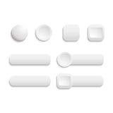 Wektorowi realistyczni Skołtuneni biali kolor sieci guziki Obraz Royalty Free