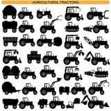 Wektorowi Rolniczego ciągnika piktogramy Zdjęcia Royalty Free