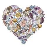 Wektorowi seashells ustawiający ilustracja wektor