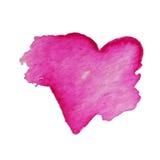 Wektorowi serca dla walentynki s dnia w akwareli projektują Pociągany ręcznie różnorodni serca na białym tle Royalty Ilustracja