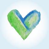 Wektorowi serca dla walentynki s dnia w akwareli projektują Ręka rysujący serce odizolowywający Ilustracja Wektor