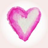 Wektorowi serca dla walentynki s dnia w akwareli projektują Ręki rysujący różnorodni serca na białym tle Ilustracja Wektor
