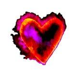 Wektorowi serca dla walentynki s dnia w akwareli projektują Wręcza patroszonych różnorodnych serca odizolowywających na białym tl Ilustracji