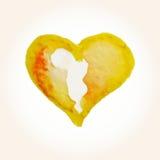 Wektorowi serca dla walentynki s dnia w akwareli projektują Wręcza patroszonych różnorodnych serca odizolowywających na białym tl Royalty Ilustracja