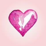 Wektorowi serca dla walentynki s dnia w akwareli projektują Ilustracja Wektor