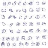 Wektorowi Sieci ikony doodles Zdjęcia Stock