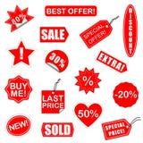 Wektorowi sprzedaż elementy Ustawiają 2 Zdjęcie Stock