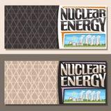Wektorowi sztandary dla energii atomowej ilustracja wektor