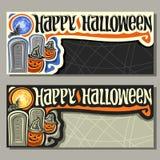 Wektorowi sztandary dla Halloweenowego wakacje ilustracji