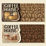 Wektorowi sztandary dla kawa domu Fotografia Stock