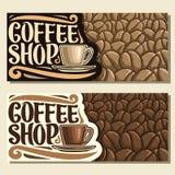 Wektorowi sztandary dla sklep z kawą Zdjęcie Stock