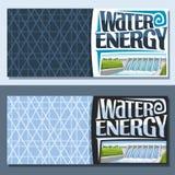 Wektorowi sztandary dla Wodnej energii Ilustracja Wektor