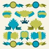 Wektorowi sztandary i odznaki ilustracji